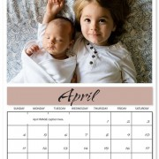 Fill your year with great memories when you print your own calendar filled with personal photos.