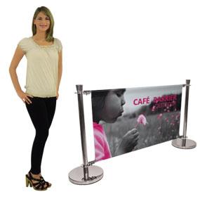 custom-printed barrier