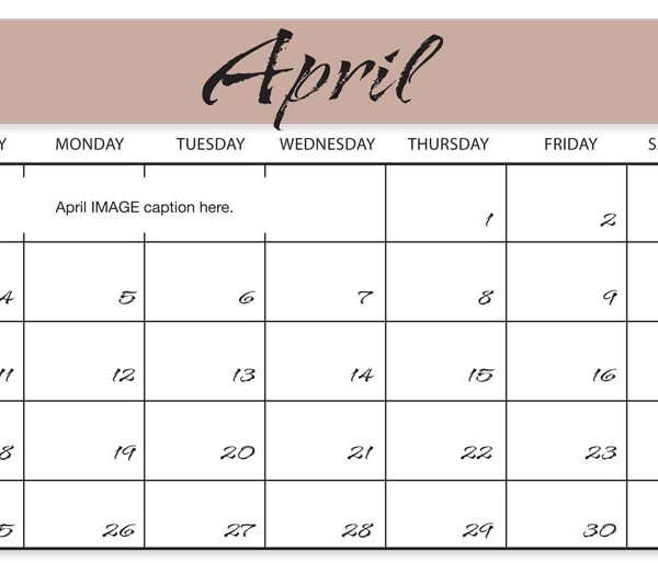Calendar style for month template