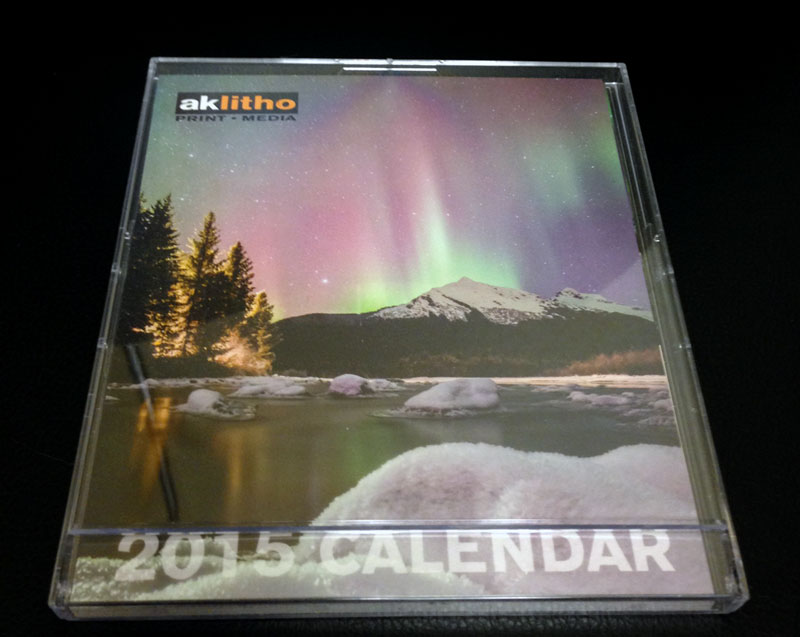 2015 CD case desktop calendar with your personal photos