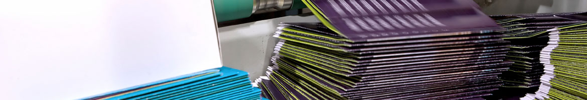 Finishing and folding services in the bindery available at Alaska Litho