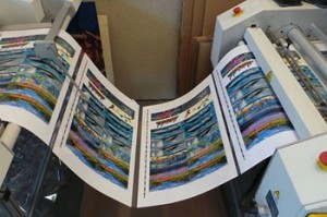 Lamination is one of the finishing services offered at Alaska Litho printing