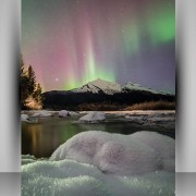 Print photo posters - sample is the 2015 Alaska Litho photo contest winner's aurora Colors of the Night