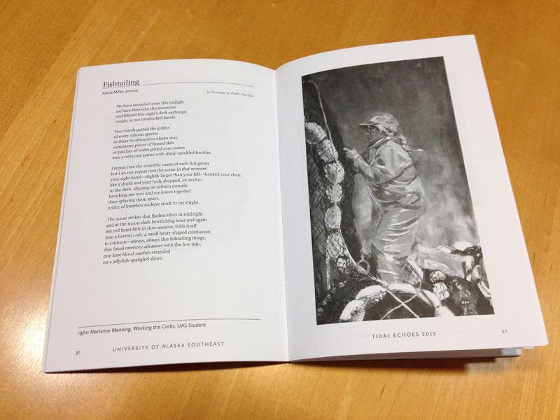 Tidal Echoes 2015 sample spread of poetry and art
