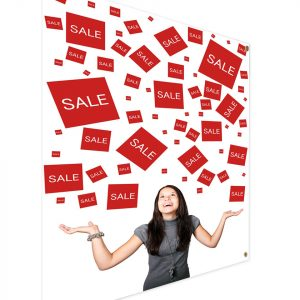 Custom store banners for sales, events and announcements
