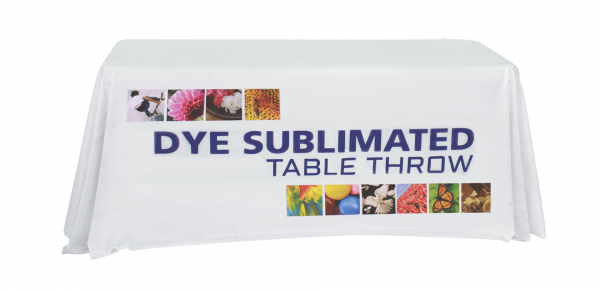 6-foot dye sublimated table throw