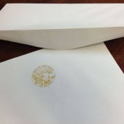 Letterhead envelopes in white or ivory for State of Alaska legislature stationery sets