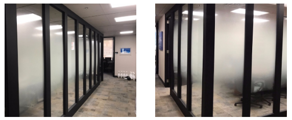 RDI Meeting Room glass with custom privacy film