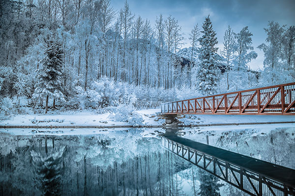 Winter Reflections Along the Eklutna Tailrace by Matt Skinner
