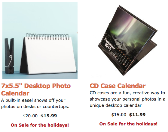 12-Month Desktop Calendars