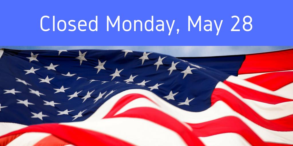 Memorial Day closure 2018