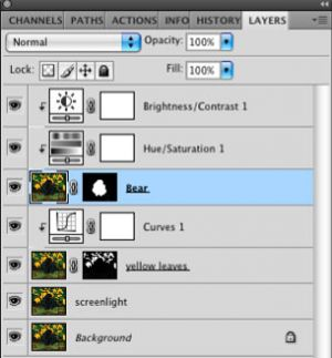 Layers for non-destructive Photoshop editing
