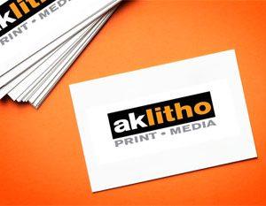 Alaska Litho business cards, local printing