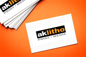 Alaska Litho business cards, local printing