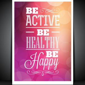 """Be active"" inspirational poster - print your own poster with your designs or photos"