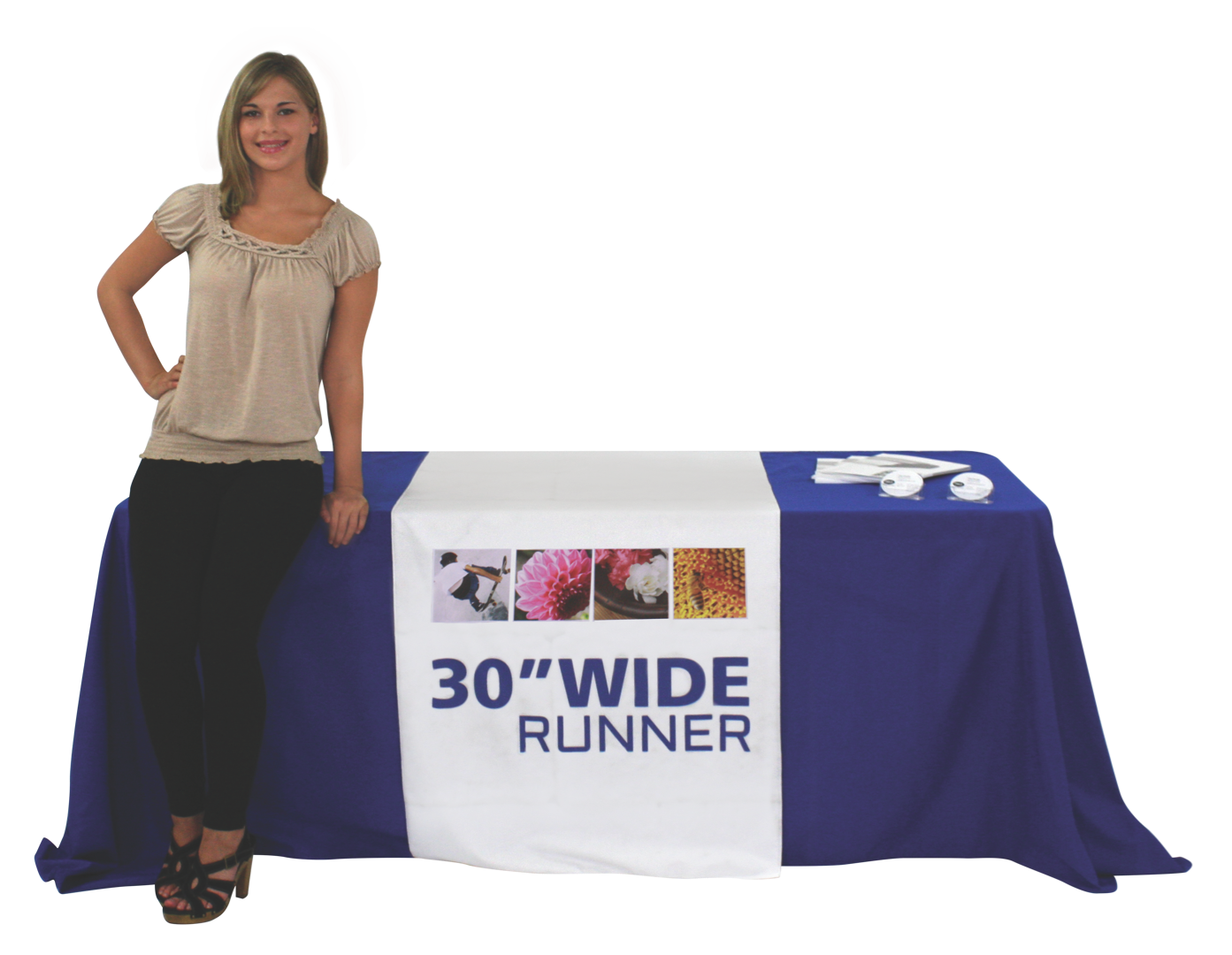 30 Inch Wide Table Runner, Custom Printed For Your Display