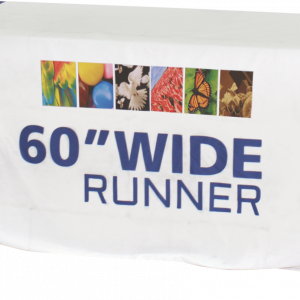 "60"" table runner with custom imprint"