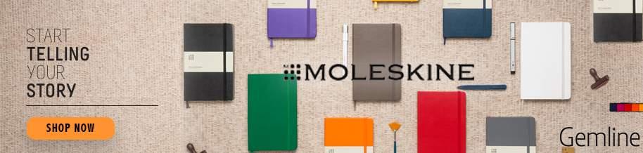 Branded Moleskine notebooks