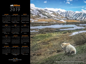 2019 Alaska Litho poster calendar featuring annual photo contest winner