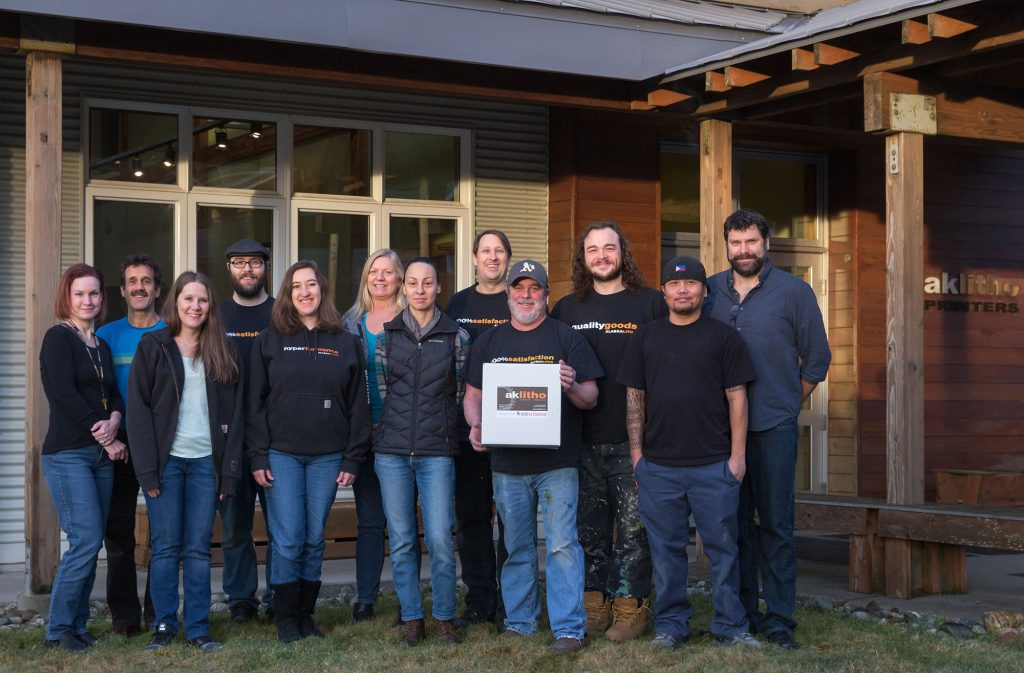 Alaska Litho employees, November 2018